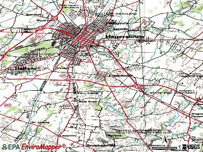 Funkstown topographic map