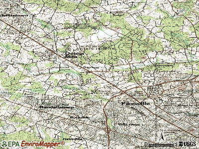 Garrison topographic map