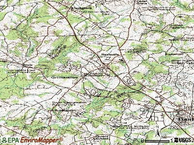 Germantown topographic map