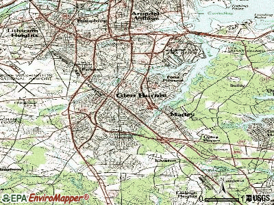 Glen Burnie topographic map
