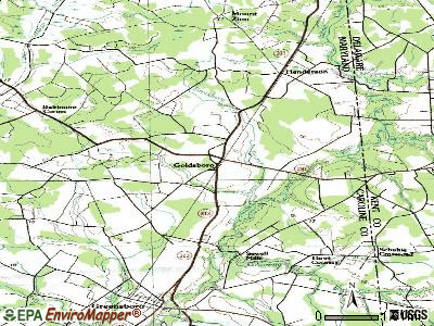 Goldsboro topographic map