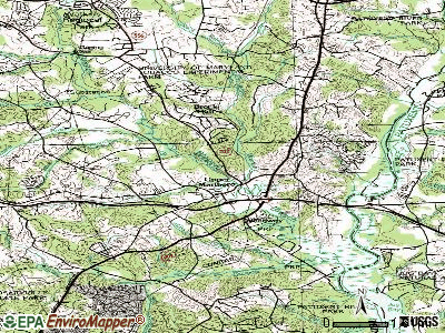 Greater Upper Marlboro topographic map