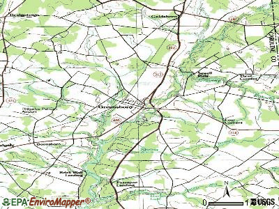 Greensboro topographic map