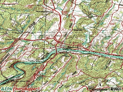 Hancock topographic map