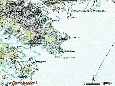 Hillsmere Shores topographic map
