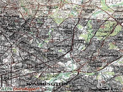Huntingtown topographic map