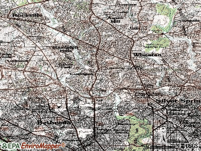 Kensington topographic map