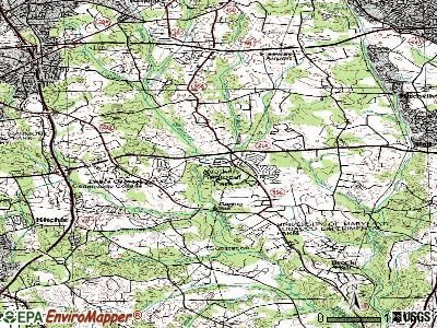 Langley Park topographic map