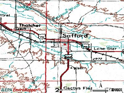 Safford topographic map