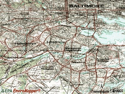 Lansdowne-Baltimore Highlands topographic map