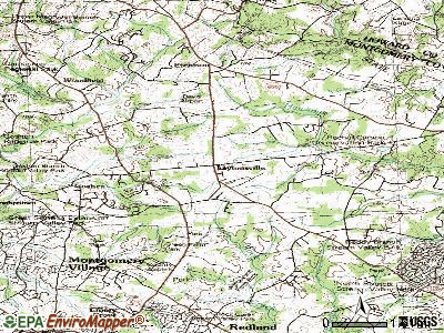 Laytonsville topographic map