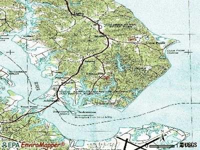 Lusby topographic map