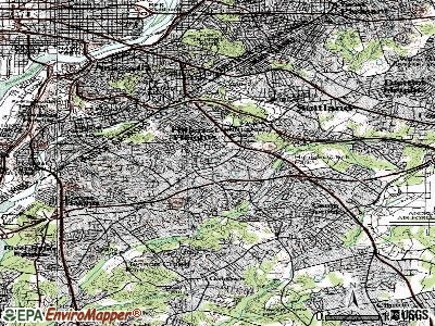 Marlow Heights topographic map