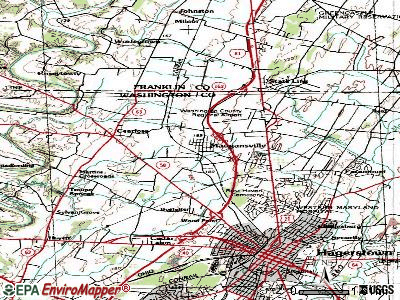 Maugansville topographic map