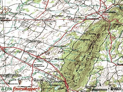 Mount Aetna topographic map