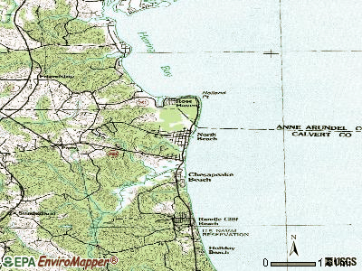 North Beach topographic map