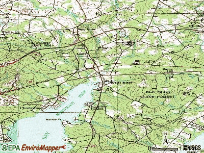 North East topographic map