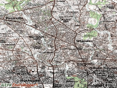 North Kensington topographic map