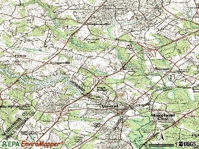 North Laurel topographic map