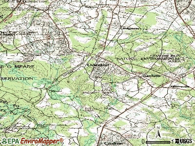 Odenton topographic map