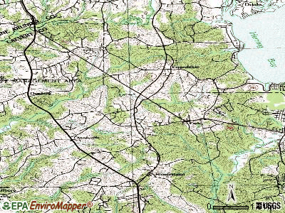 Owings topographic map