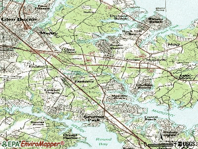 Pasadena topographic map