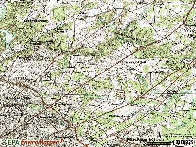 Perry Hall topographic map