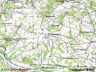 Poolesville topographic map