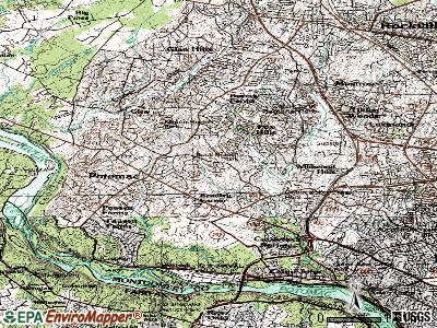 Potomac topographic map