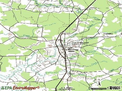 Princess Anne topographic map