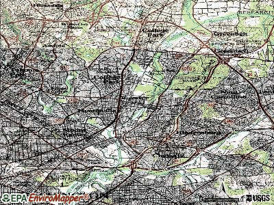 Riverdale Park topographic map