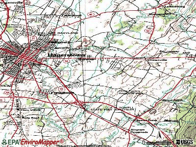 Robinwood topographic map
