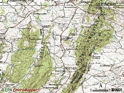Rohrersville topographic map