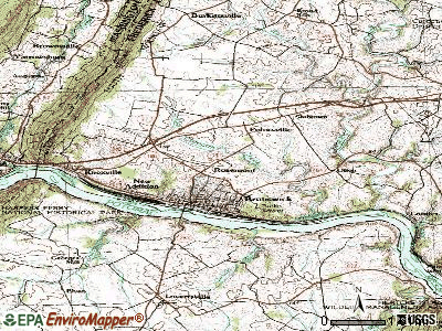 Rosemont topographic map