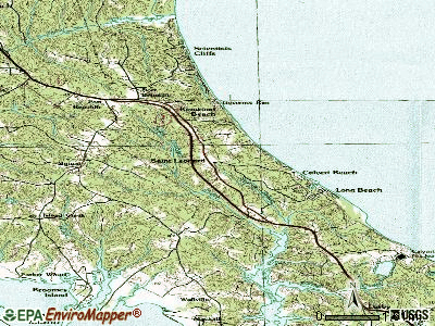 St. Leonard topographic map