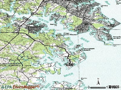 Selby-on-the-Bay topographic map