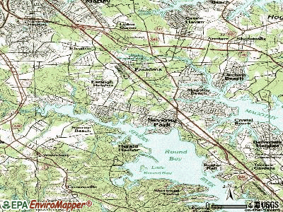 Severna Park topographic map