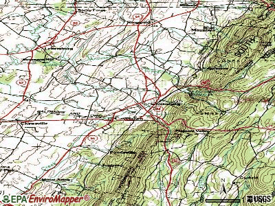 Smithsburg topographic map