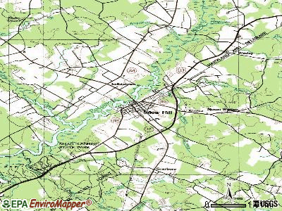 Snow Hill topographic map