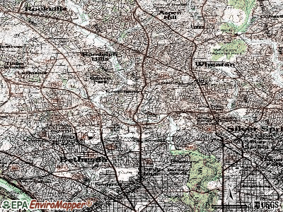 South Kensington topographic map