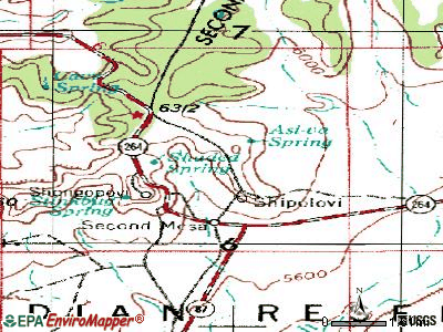 Second Mesa topographic map