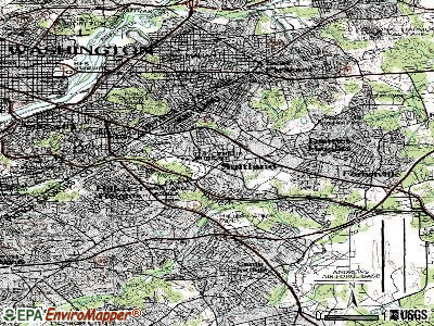 Suitland-Silver Hill topographic map