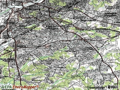 Temple Hills topographic map