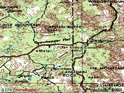 Sedona topographic map