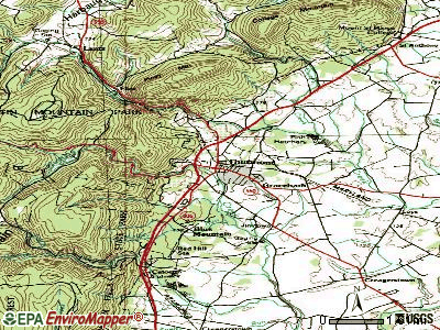 Thurmont topographic map