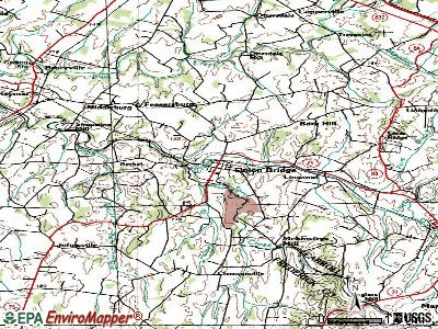 Union Bridge topographic map