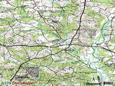 Upper Marlboro topographic map