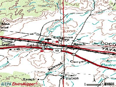 Seligman topographic map