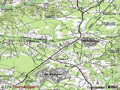 Waldorf topographic map