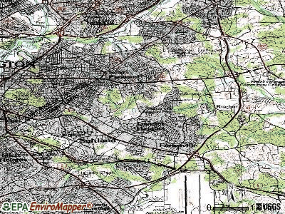 Walker Mill topographic map